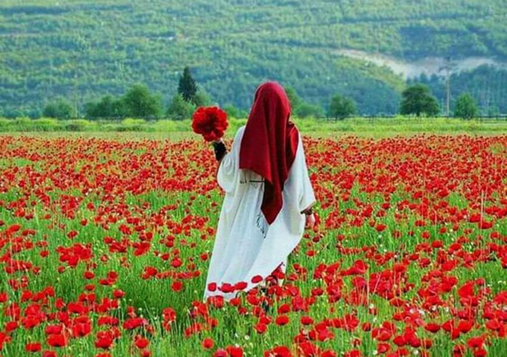عکس پروفایل با حجاب دخترانه بهاری