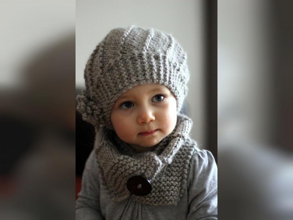 عکس مدل کلاه بافتنی دختر بچه