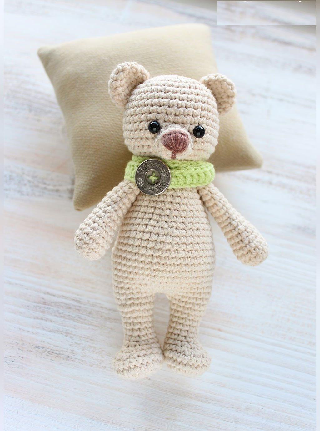 مدل عروسک بافتنی خرس کوچولوی قهوه ای