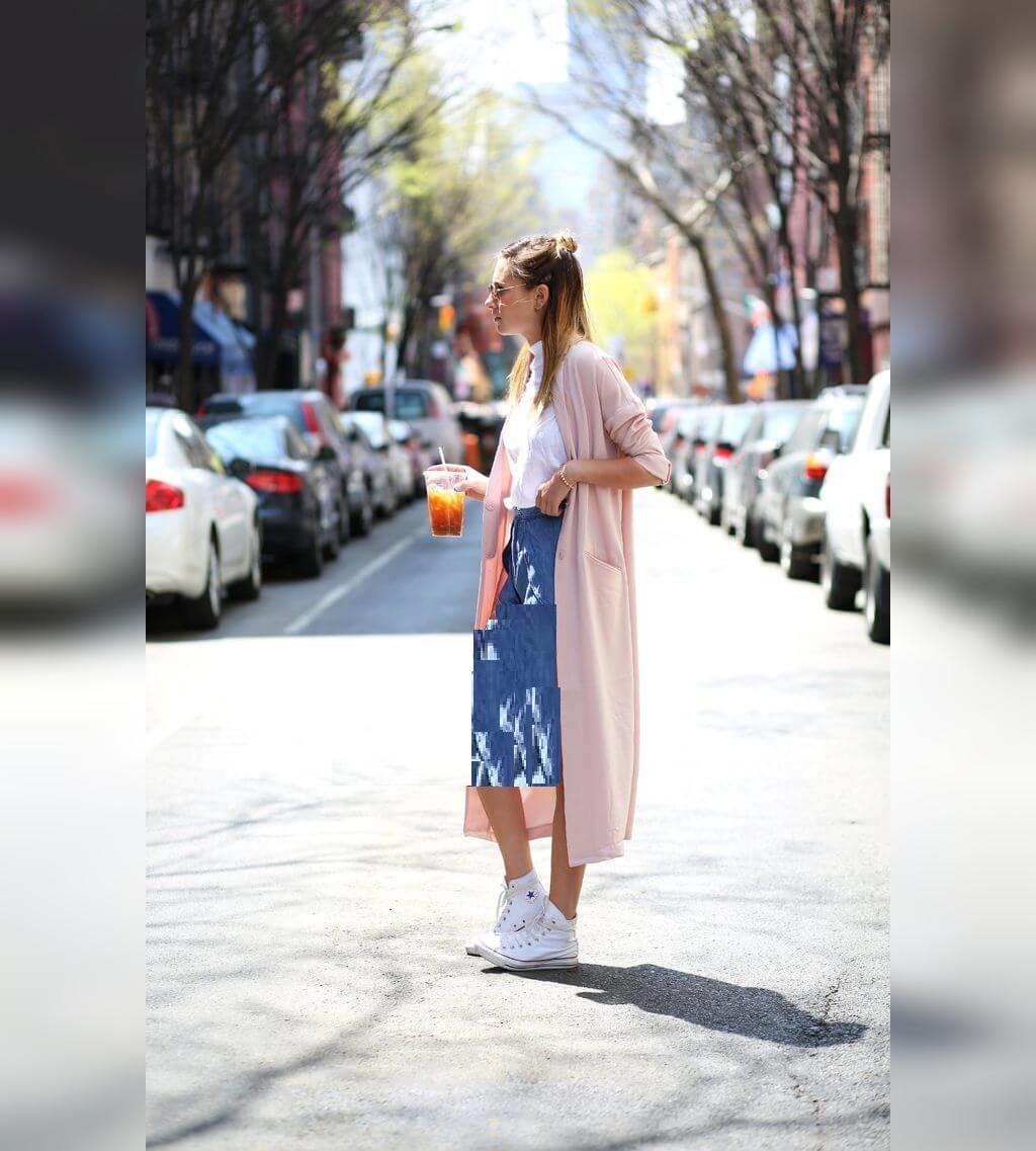 مدل مانتو تابستانی بلند جلو باز دخترانه اسپرت