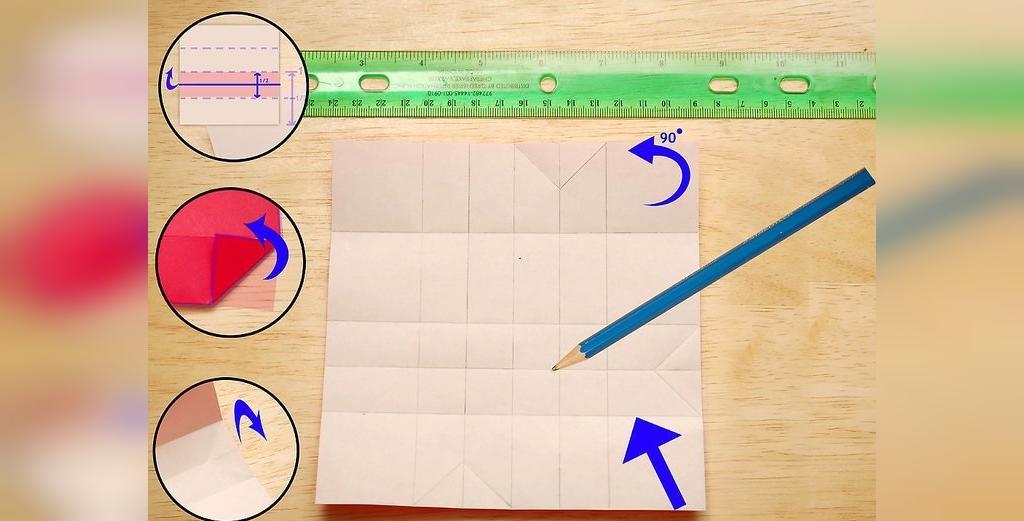 چگونه یک گل رز کاغذی اوریگامی درست کنیم