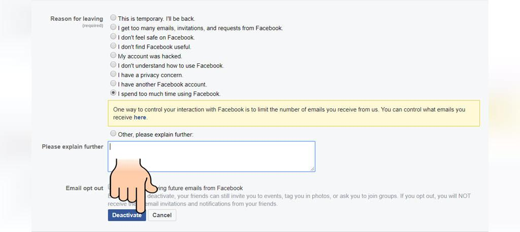 چگونه اکانت فیسبوک را حذف کنیم