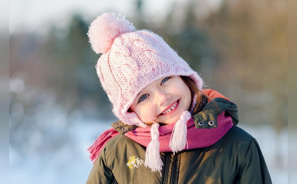 مدل کلاه طرح دار بافتنی دختر بچه