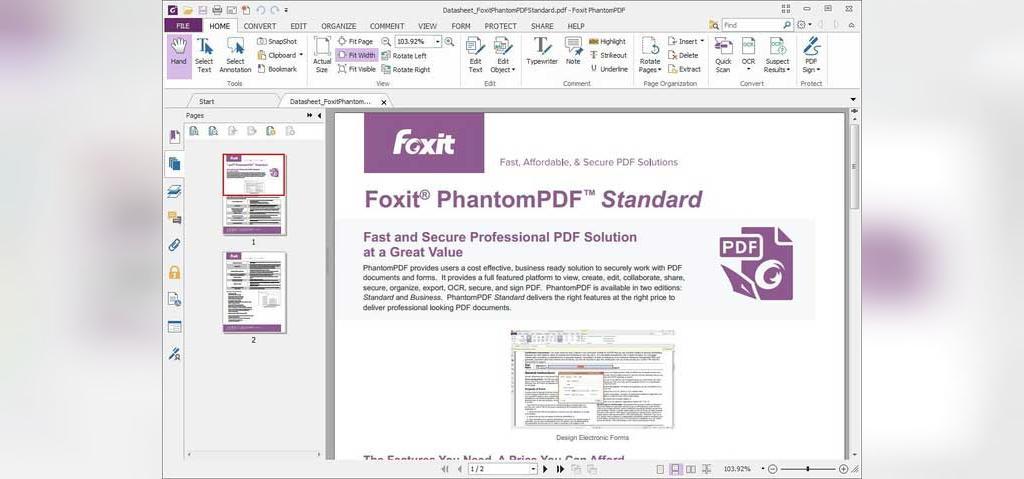 نرم افزار Foxit Phantom برای ویرایش pdf
