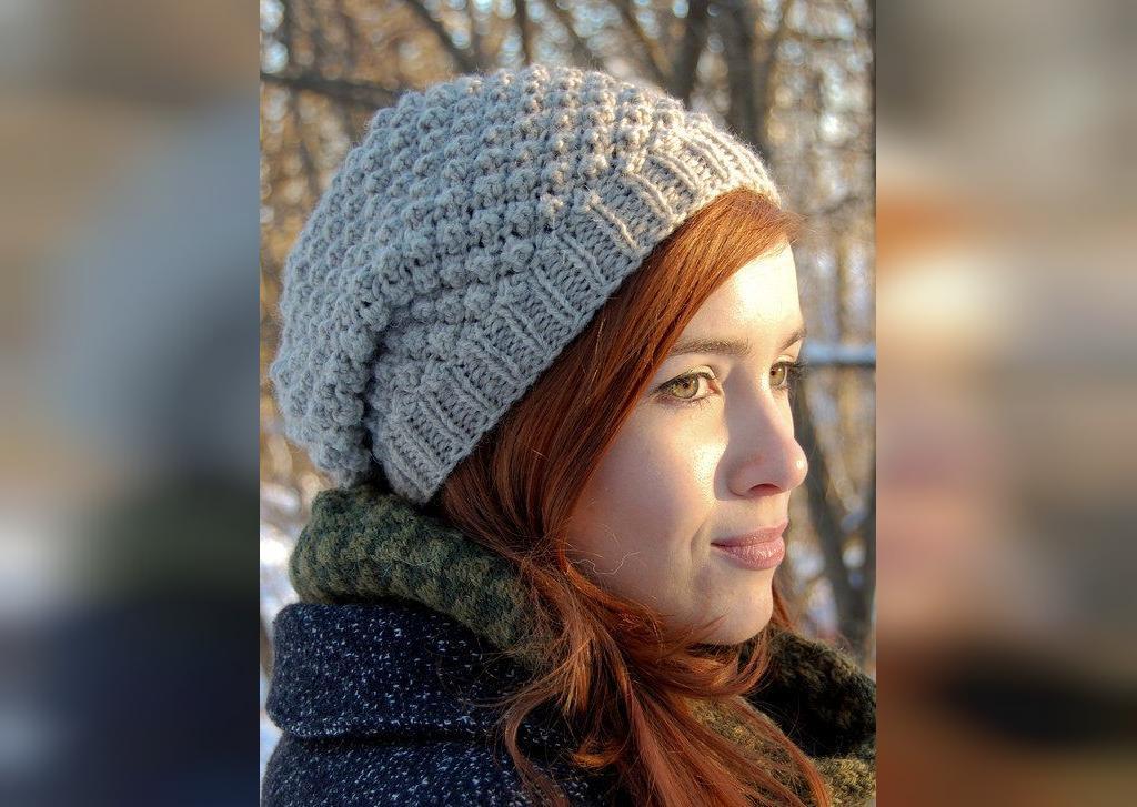 مدل ژورنالی کلاه بافتنی دخترانه اسپرت 2020