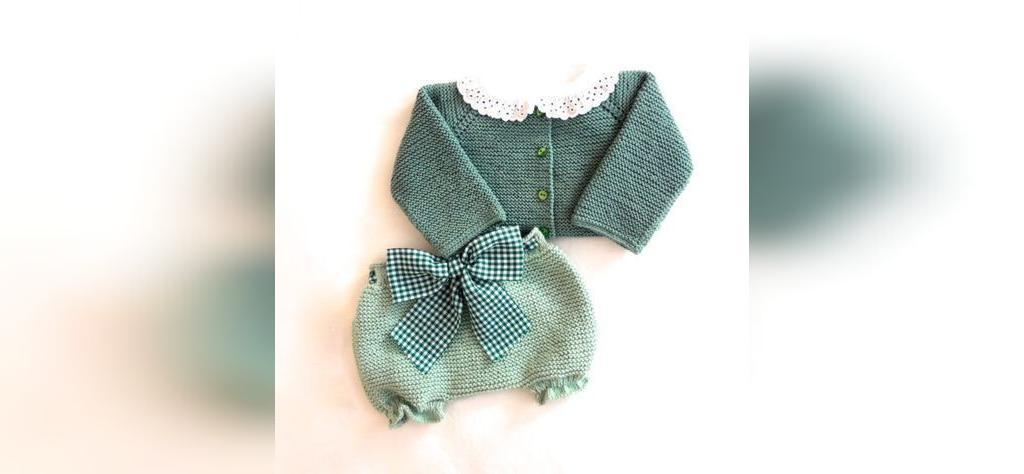 لباس بافتنی نوزاد شیک دخترانه
