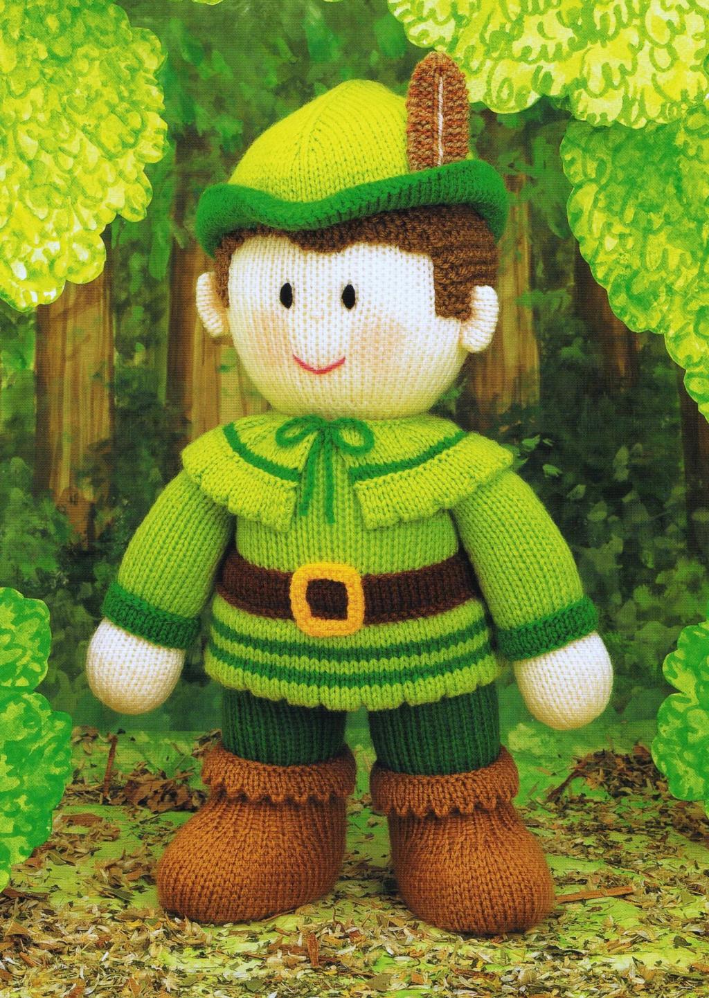 عروسک بافتنی رابین هود با میل