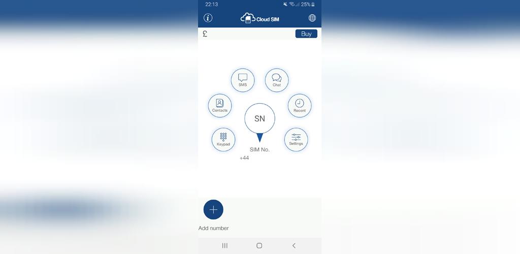 برای گوشی اندرویدCloud SIM برنامه شماره تلفن مجازی