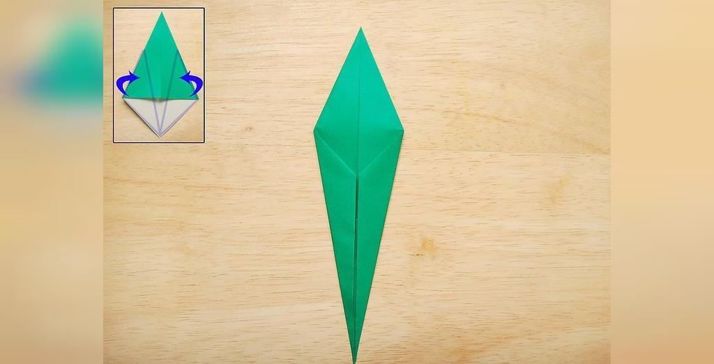 درست کردن گل رز کاغذی به روش ساده