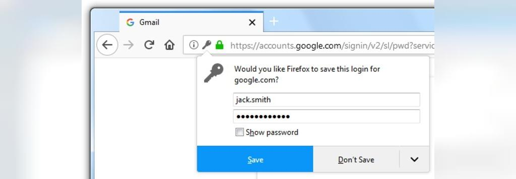 مدیریت رمز عبور فایرفاکس