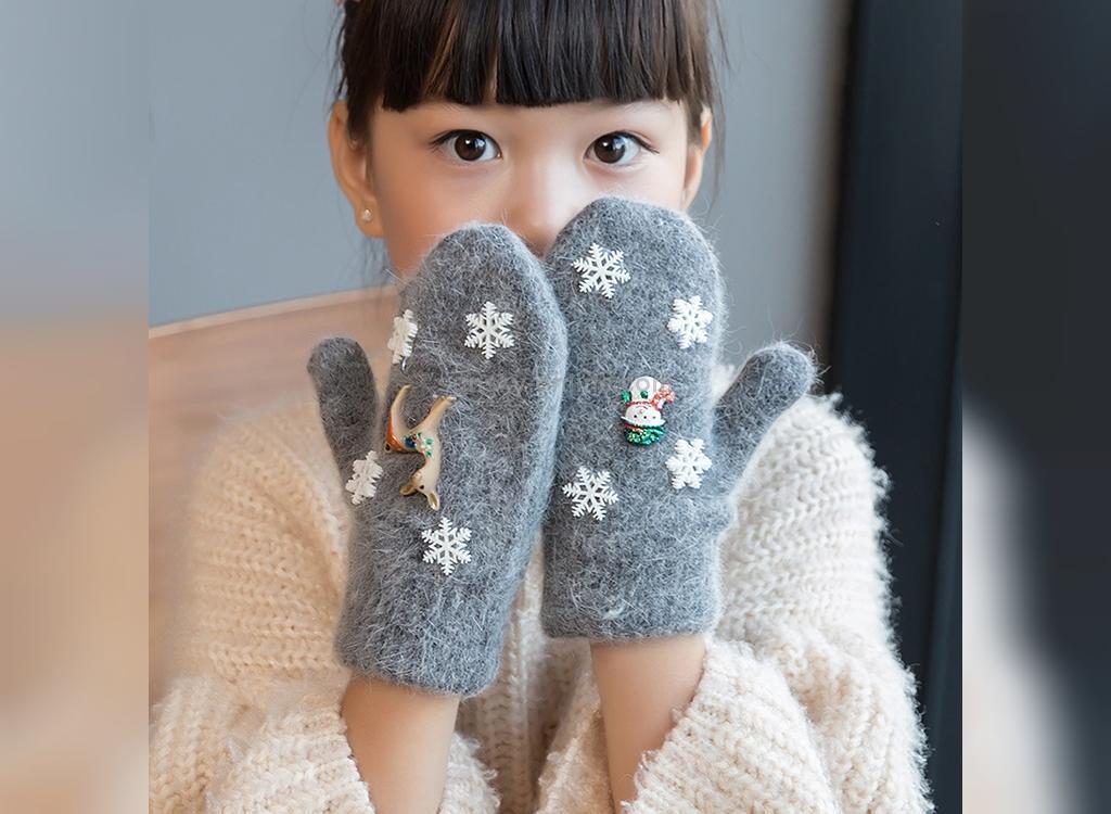 مدل دستکش بافتنی بچه گانه