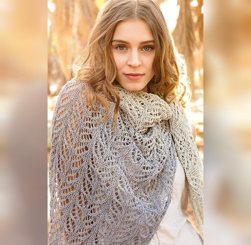 مدل شل بافت روسری زنانه با دومیل