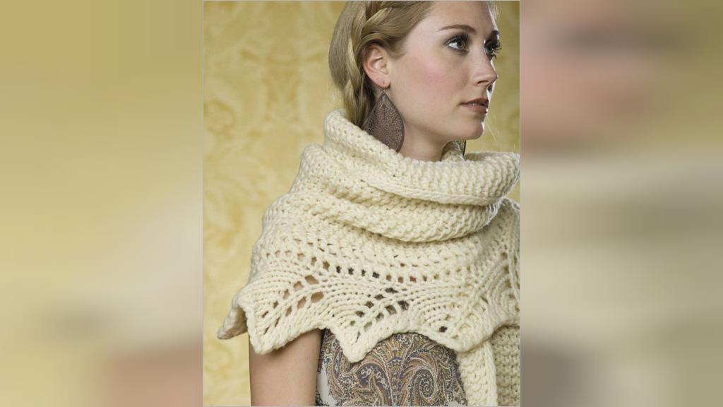 مدل روسری بافتنی زنانه با دومیل جدید
