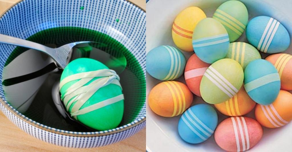 آموزش رنگ آمیزی تخم مرغ برای عید