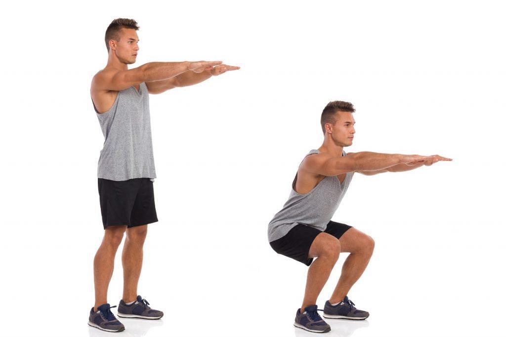 چمباتمه زدن تمرینی برای تقویت استخوانها