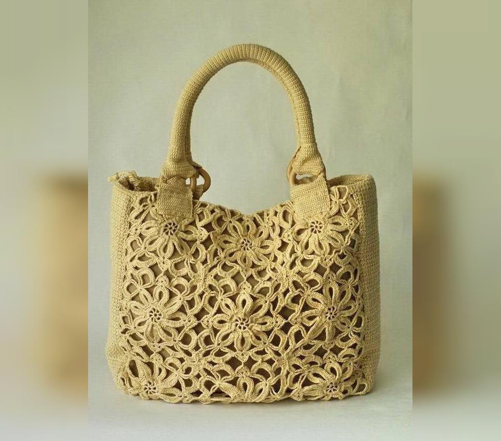 کیف بافتنی زنانه با قلاب
