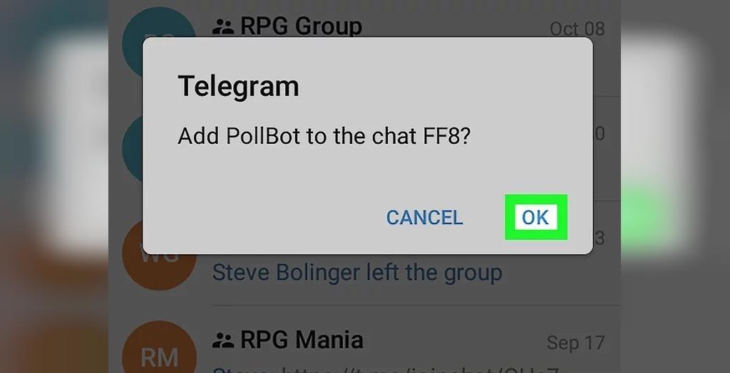 رای گیری در تلگرام