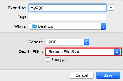 کم حجم کردن فایل پی دی اف در مک