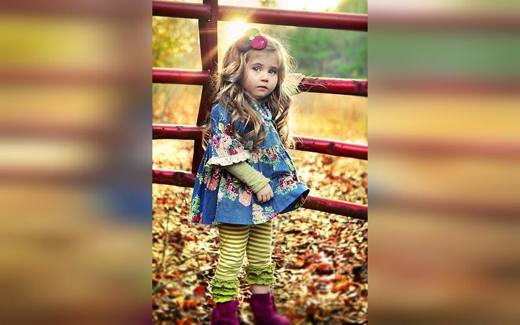 مدل های ژست عکس کودک در طبیعت