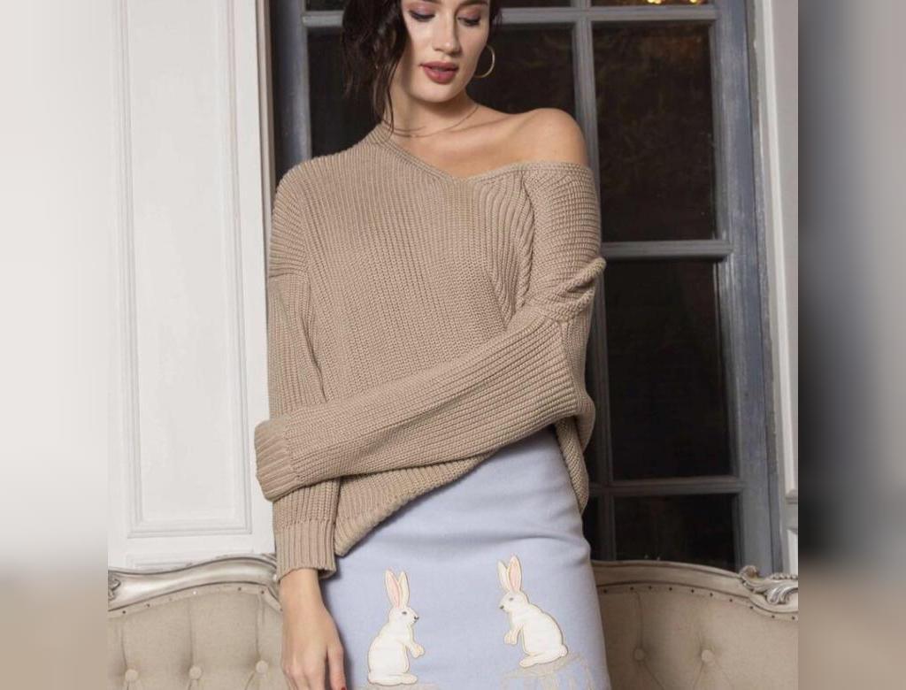 مدل بلوز دست بافت زنانه یقه هفت