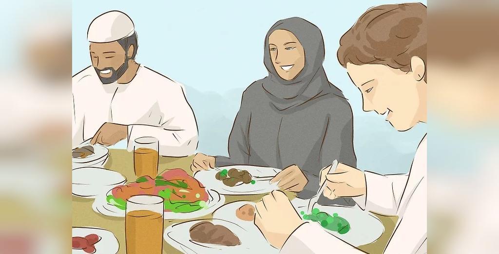 بدون پرخوری در مصرف وعده غذایی، روح افطار را سهیم شوید