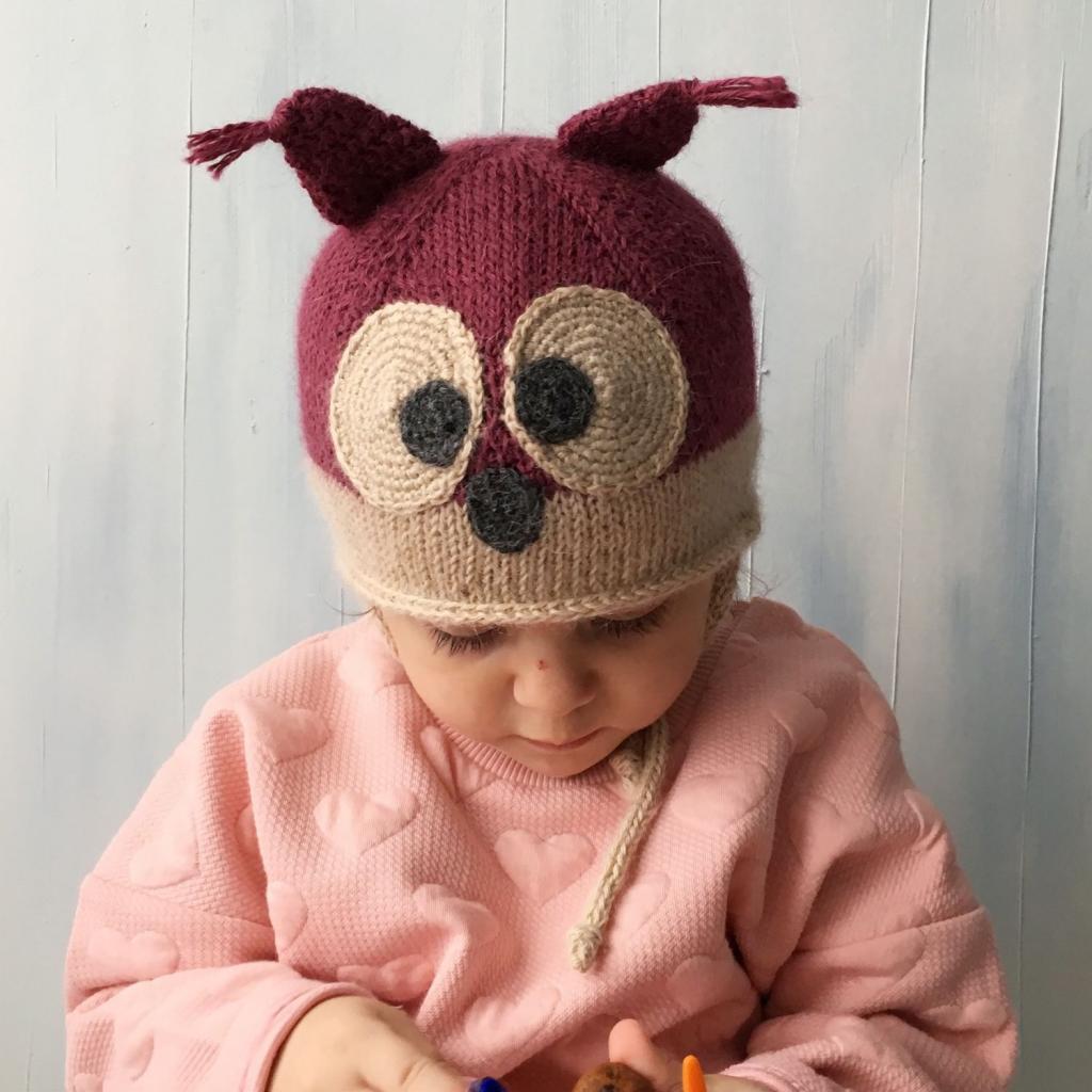 مدل کلاه بافتنی کلاه گوش دار زیبا و کودکانه