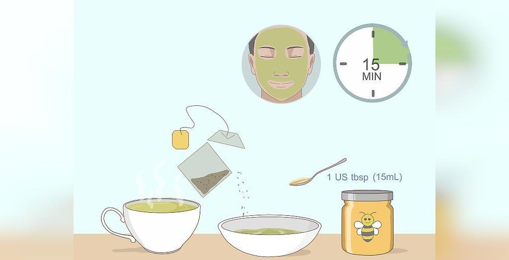 ماسک ضد آکنه چای سبز و عسل