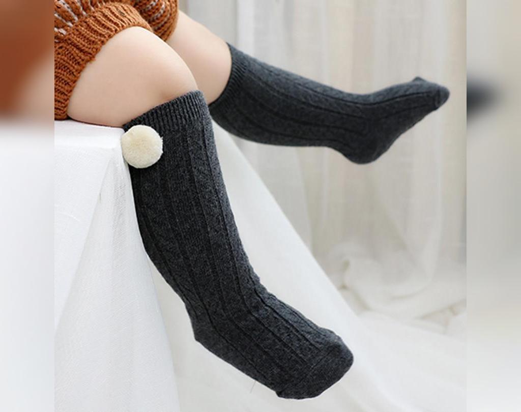 جوراب بافتنی ساق بلند