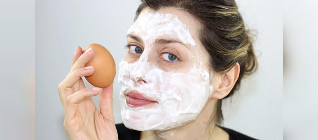 ماسک پوست صورت مختلط با سفیده تخم مرغ