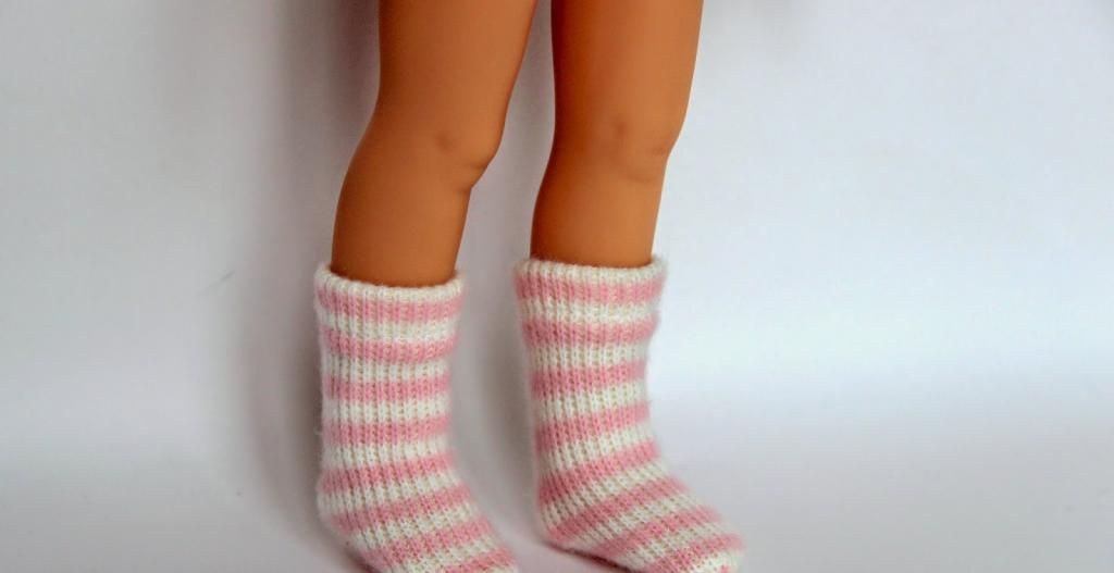 مدل جوراب بافتنی بچه گانه ساق بلند