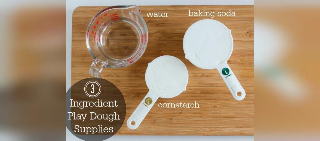 مواد لازم برای تهیه خمیر بازی خانگی