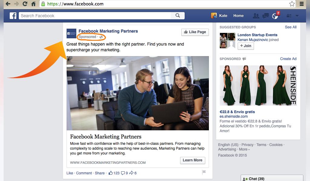 تبلیغات در فیسبوک با عکس