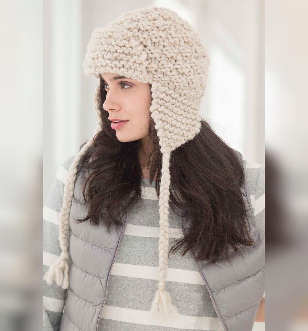 مدل کلاه بافتنی زنانه لبه دار شیک