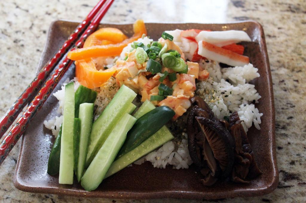 سالاد سوشی، غذای سم زدای بدن