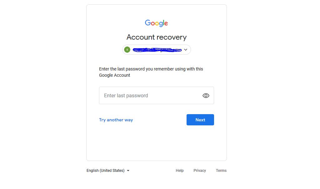 بازیابی رمز جیمیل بدون شماره تلفن