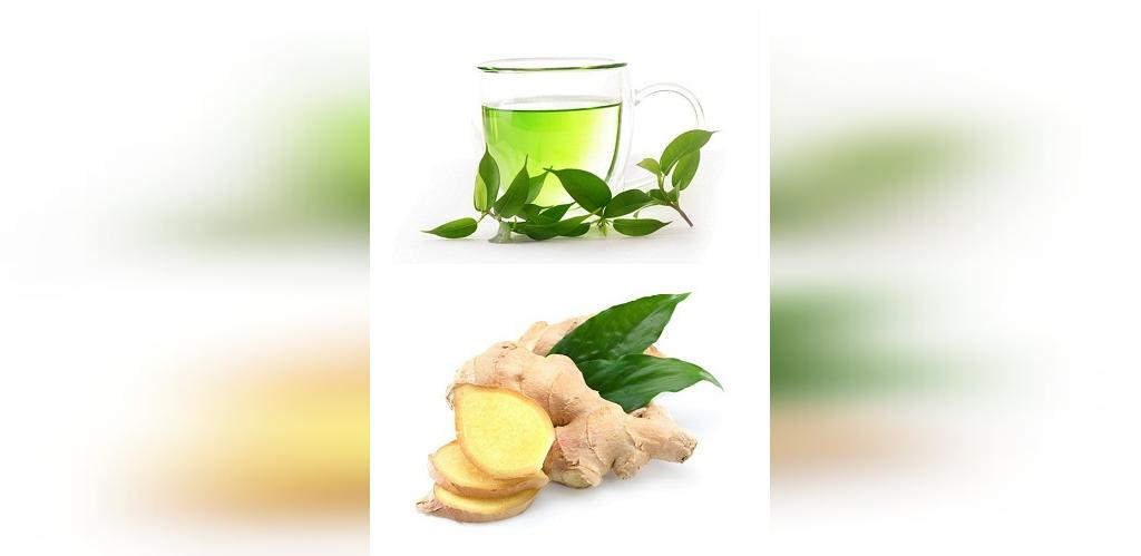 دمنوش لاغری با زنجبیل و چای سبز