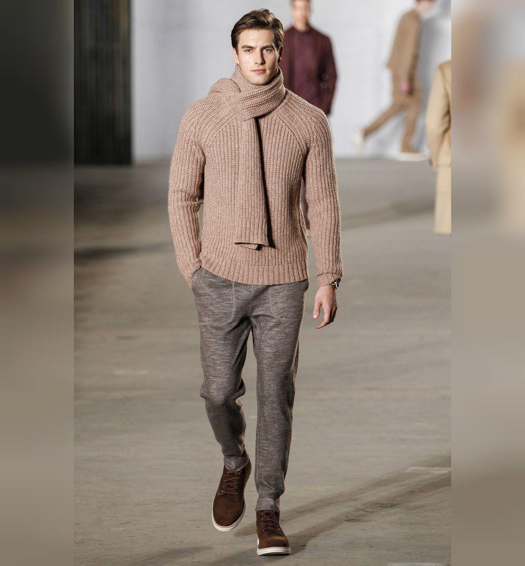 مدل بافت مردانه 2020 ست پلیور و شال گردن