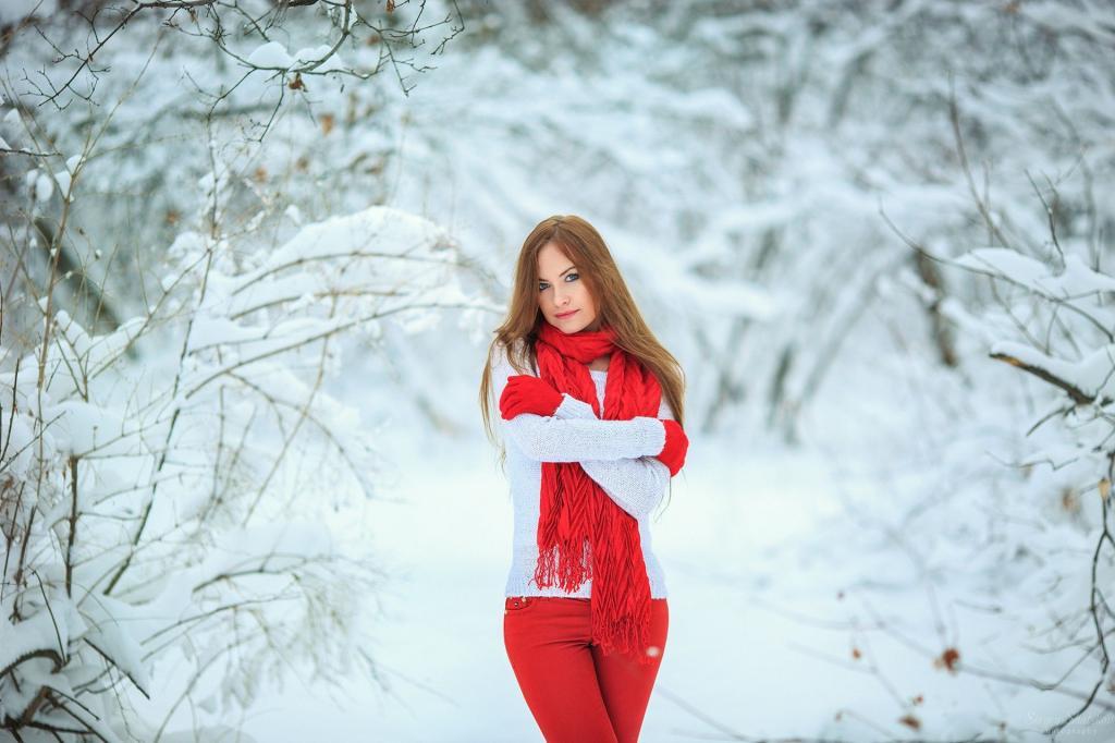 ژست عکس زمستانی دخترانه فانتزی