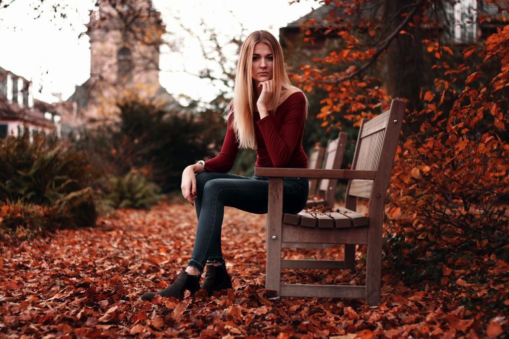 عکس دخترونه شیک و باکلاس خارجی در پاییز