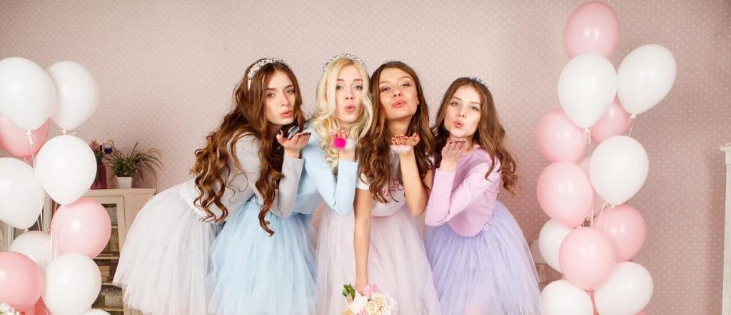 ژست لاکچری و خاص عکس دسته جمعی تولد دخترانه