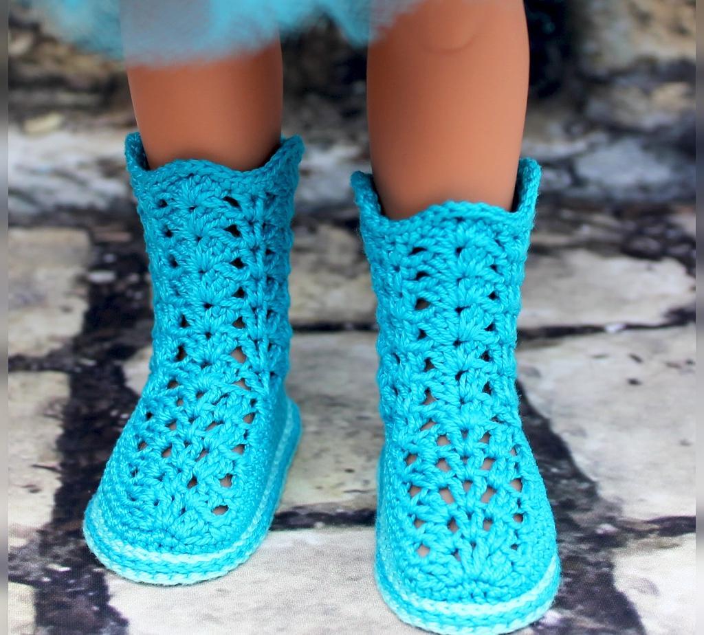 جوراب بافتنی دخترانه فانتزی مدل چکمه