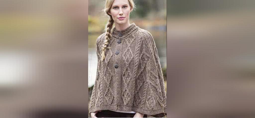 شنل بافتنی زنانه طرحدار