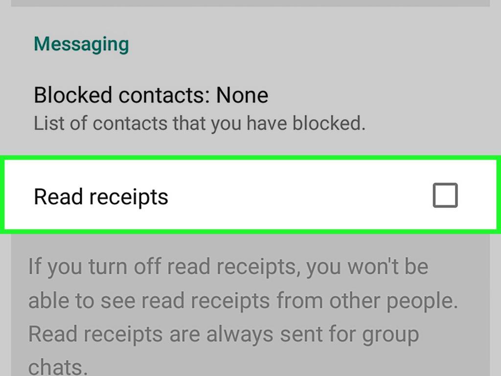 گزینه read receipts در واتس اپ