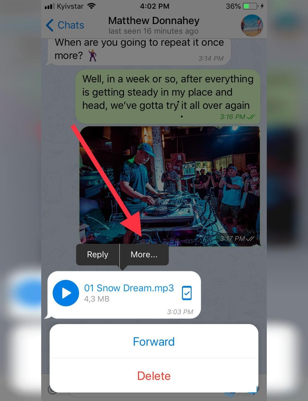 روش ذخیره اهنگ تلگرام در آیفون