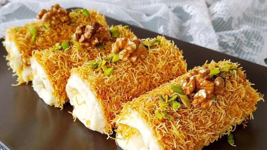 طرز تهیه کنافه ترکی خوشمزه با شیر عسل و بدون پنیر در ماهیتابه
