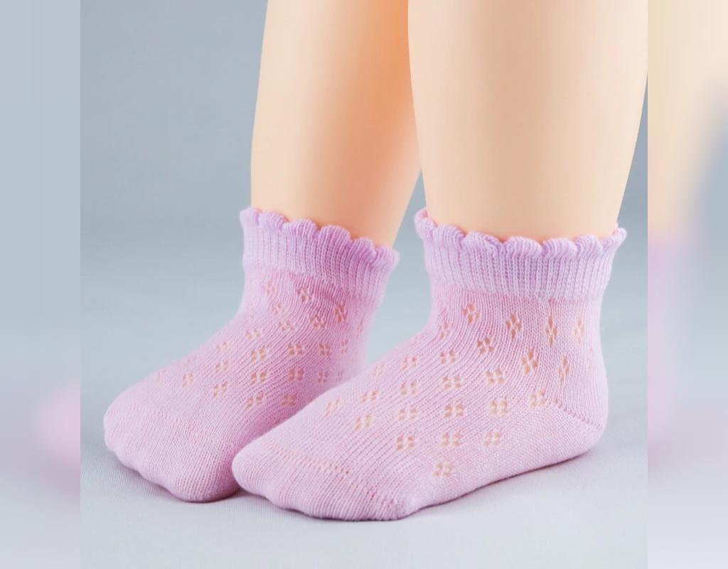 جوراب بافتنی نوزاد دخترانه