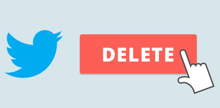 حذف اکانت توییتر با کامپیوتر