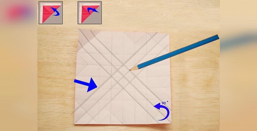 ساخت گل رز کاغذی فقط با تا کردن کاغذ