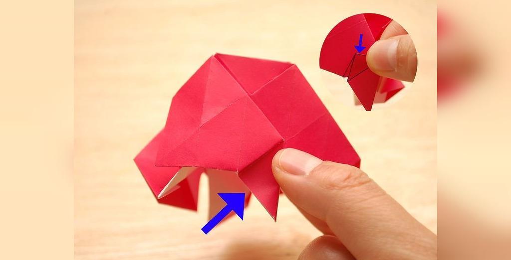 درست کردن گل رز با کاغذ اوریگامی