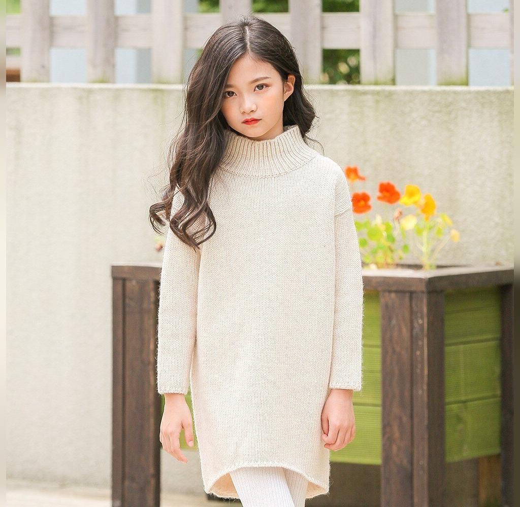 مدل لباس دستباف دخترانه ساده و یقه اسکی